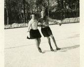 "Vintage Photo ""Ice Skating"", Photography, Paper Ephemera, Snapshot, Old Photo, Collectibles - 0153"