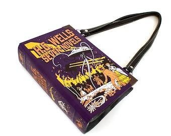 H.G. Wells Book Purse -  Decadence Bookpurse clutch or purple handbag