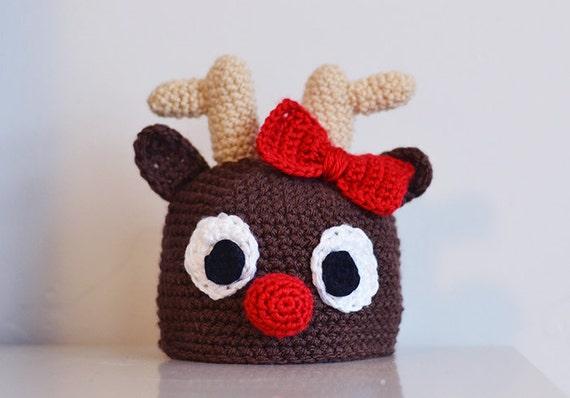 Crochet Reindeer Pattern Newborn to Adult Size