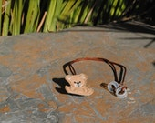 Bernard the Brown Bear - Hearing Aid Cord or Cochlear Implant Cord