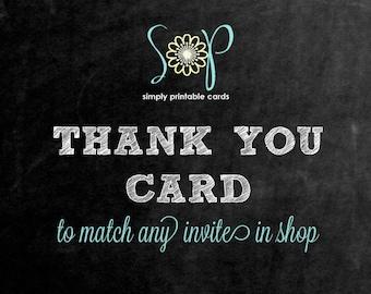 Matching Thank You Card (Digital File)