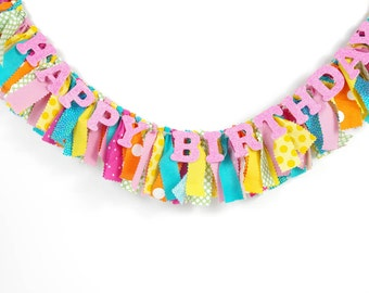 Candy Shoppe Birthday Party - Sweet Shop - Candyland - My Little Pony Birthday - Girl's Birthday Party - Rag Banner - Photography Prop