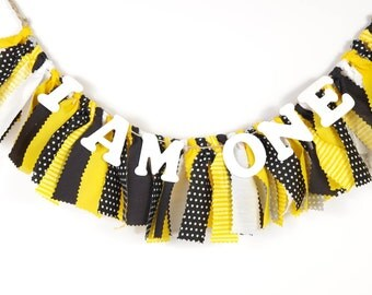 Bumble Bee Birthday - Steeler's - Batman - Boy's Birthday Party - Boy's First Birthday - Garland - Bunting - Photoshoot Prop