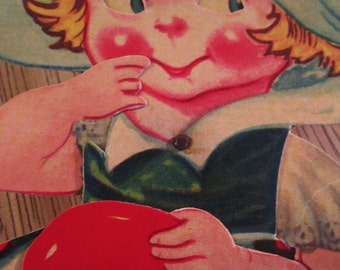 Vintage Valentine.  Large Articulated Valentine Card.  Made in Germany.  G-242