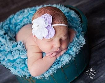 Baby Headband- Girl Headband- Baby Flower Headband- Christening Headband