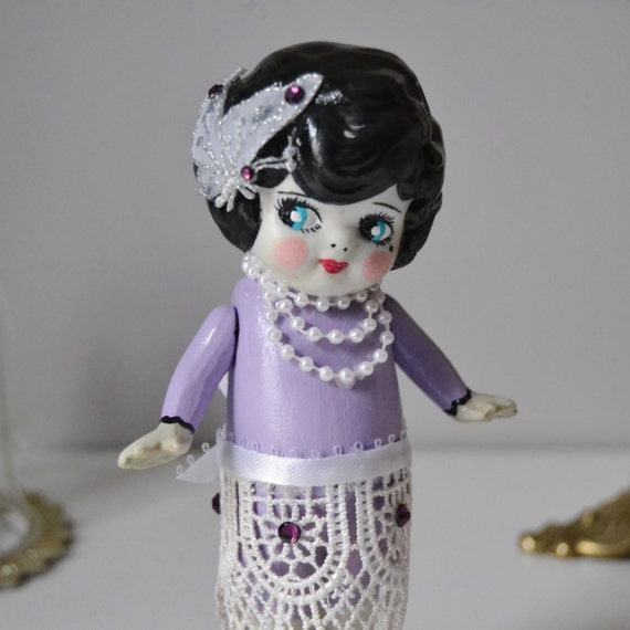 Fancy the Flapper, Antique and Upcycled
