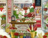 Flower Shop - Cross stitch pattern pdf format