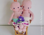Doll Crochet pattern PDF - Baby amigurumi toy - Instant Download