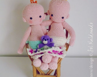 Doll Crochet pattern PDF - Baby amigurumi toy - Instant Download