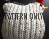 PATTERN Chicken Hat Knitting Pattern PDF