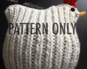 PATTERN Chicken Hat Knitting Pattern PDF