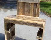 Vanity Dresser Made from Reclaimed Wood Farmhouse Style