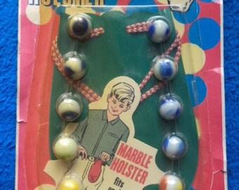 Vintage Mr. Mibbs 1965 CHEMTOY Marble Holster w/12 Marbles - in Original Package