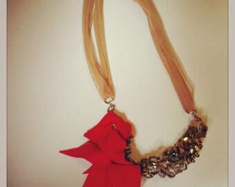 Ember rose ' choker necklace