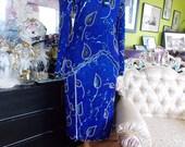 Brilliant Blue Beaded 2ps dress flapper perfect wedding attendant bridesmaids dress 1920s inspired