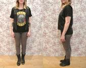 "Vintage 80s/90s ""EXPRESS"" Black Grunge Rocker Biker Chic SUPER soft Leather Vest w/ Metal zippers & Pockets - Size s/m - UNISEX - Men/Womens"