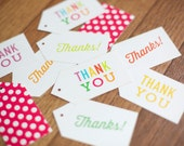 SALE! Thanks, Thank You Gift Tags, 12 pack