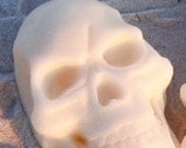 Skull Soap on a Rope - Eucalyptus Peppermint oil - Halloween - Pirates - Nautical Pirate Handmade Soap - Day of the Dead- Small Gifts