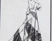 Womens 1970s Bias Swirl Skirt Pattern Waist 23 - 31 Stretch & Sew 435 Misses Size S M L Pull On, Elastic Waist UNCUT FF