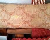 Pumpkin burlap pillow