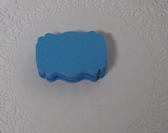 25 Blue  Journal Tags Embellishments