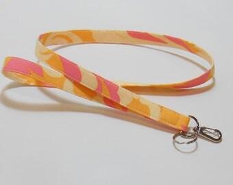 Key Lanyard Badge Lanyard Teacher Lanyard  Apricot Pink Cream