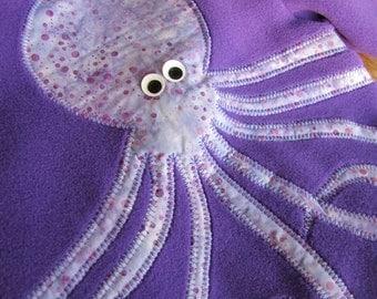 Children's Octopus Jacket Purple Fleece