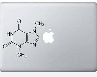Chocolate Molecule laptop DECALS- macbook iPad computer- Theobromine, chemical structure- vinyl sticker