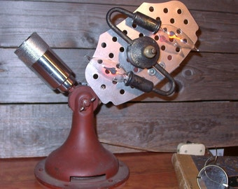 Steampunk Industrial Lamp Light - The Gyro