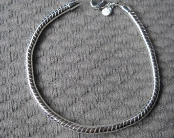 """Silver 4mm 8"""" Snake Chain Anklet or Bracelet"""