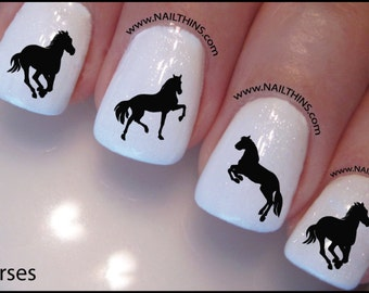 Horse Nail Decal Silhouette Set 1 Equine Design Nail Art