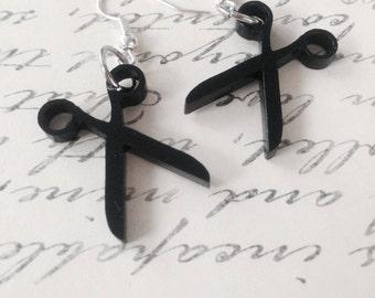 Laser Cut Acrylic Scissor Hook/Dangle Earrings