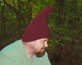 Gnome Hat - Adult size - Ready to ship - Burgundy