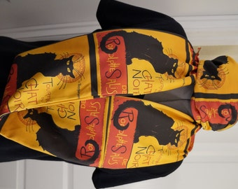 Le Chat Noir KNIT scarf - Infinity or regular style - made to order