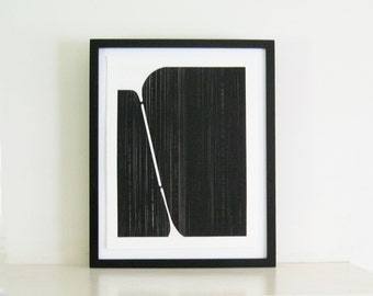 "Enjoy 25% ** use code 25OFF *** Minimalist  Home Decor. Art Print . Black and White:Track 2 . Print Size 14"" x 18"". Unframed ."