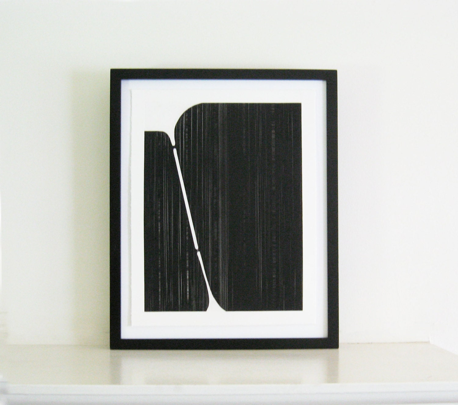 Minimalist Home Decor Art Print Black And White Track 2