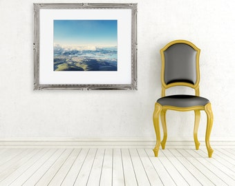 Hobart Tasmania Australia photograph fine art photo view from Mount Wellington Wall decor blue green