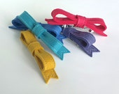 Felt Hair Bow Barrette ø Up to 25% Discount ø LoftFullOfGoodies ø Mother's Day Gift
