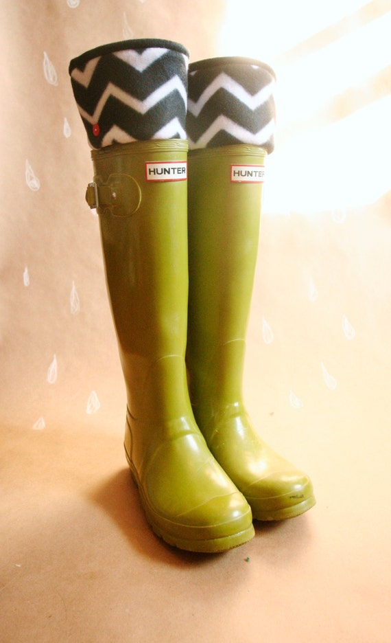 Tall Boot Sock SLUGS Fleece Rain Boot Liners Black with a