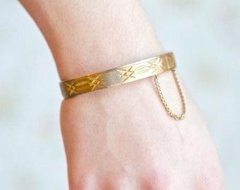 Vintage Golden Bracelet - Gold plated 18 RGP