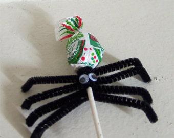 Spider Lollipops - Spider Halloween Lollipops - Halloween Lollipops - Halloween Treats - Halloween Candy - Halloween Goodies - Spiders