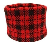 Medium Red Plaid Dog Neck...