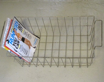 Vintage Industrial Wire Metal Basket
