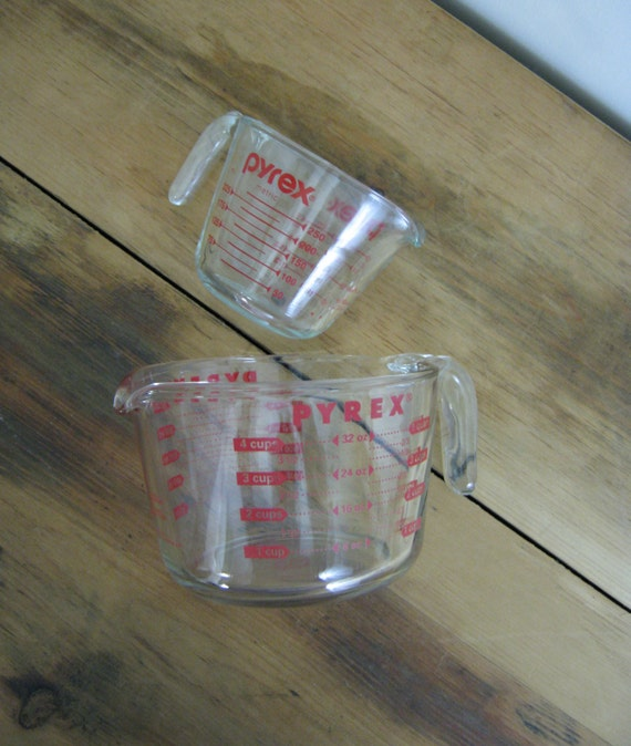 Two Pyrex Measuring Cups