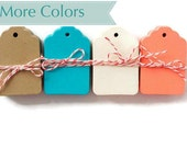 Small gift tags kraft blank mini tags choose your color. Small gift tag die cuts hang tags