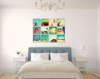 wall art set // photography print art set // wall art installation - 8x8 canvas art - Build your own September Wren set!