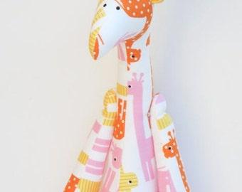 Giraffe toy stuffed plush softie doll cute orange white yellow pink toy for little children for girl boy birthday gift baby shower
