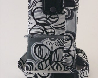 Zebra Butterfly Smartphone/Cellphone Wallet--Purse--Bag--Handheld Gaming Pouch