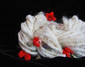 Wintergarden - Mini Skein Hand spun Winter Berry Art Yarn
