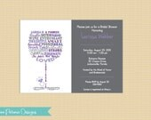 Wine Glass Invitation In Words to Describe Honoree . Any Colors